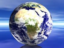 3D mundo - Affrica Foto de Stock