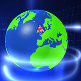3D mundo - Reino Unido Fotos de Stock