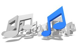 3D Music Royalty Free Stock Photo