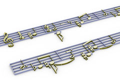 3d music notation Stock Photography