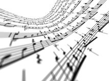 3d music notes Royalty Free Stock Image