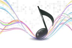 3d music notes stock illustration