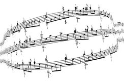 3d music notes Royalty Free Stock Photo