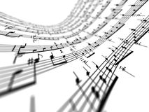 3d music notes Stock Image