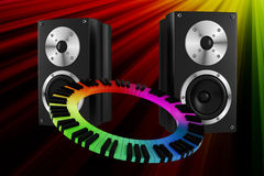 3d music party Royalty Free Stock Photos
