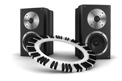 3d music party Royalty Free Stock Images