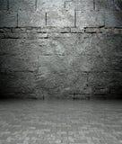 3d muur met baksteentextuur, leeg binnenland Stock Afbeelding