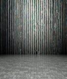 3d muur met houten blindentextuur Stock Afbeeldingen