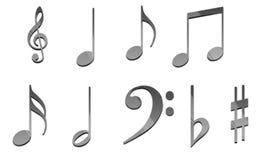 3d muziekpak Royalty-vrije Stock Afbeeldingen