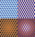 3D Naadloze Patronen van Kubussen Royalty-vrije Stock Afbeeldingen