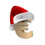 3d nakrętka euro Santa Zdjęcie Royalty Free