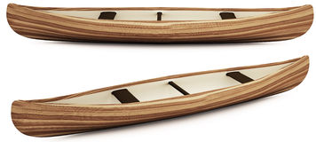 3d native indian canoe Stock Photo