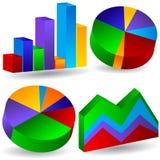3D negócio Graphis ilustração stock