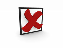 3d negative symbol Royalty Free Stock Image