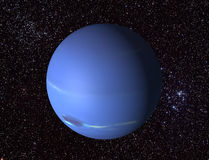 3D Neptune. Created a 3d render of the planet neptune Royalty Free Stock Image