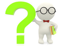 3D nerd with a question Royalty Free Stock Images