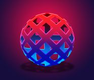 3d Net ball Stock Photo