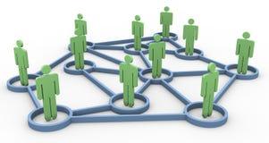3d netwerk van het bedrijfsleven vector illustratie