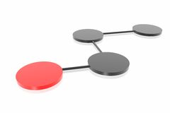 3d netwerkaanslutingen royalty-vrije illustratie