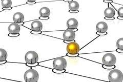 3d netwerkaanslutingen Stock Foto