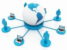 3D NETWORK Stock Photo