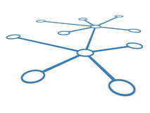 3d network blue Royalty Free Stock Photography