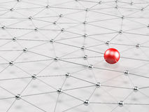 Free 3d Network. Connected Nodes Royalty Free Stock Image - 43299166