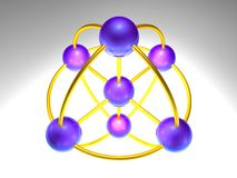 3D Network Node Royalty Free Stock Image