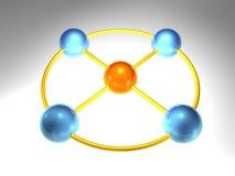 3D Network Node Stock Images