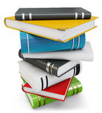 3d new pile of books. On white background Stock Photo
