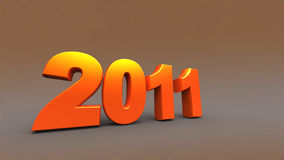3d new year 2011. Shape Royalty Free Stock Photography