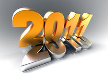3d new year 2011. Shape on white background Royalty Free Stock Photos