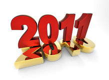 3d new year 2011. Shape on white background Stock Photography