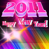 3d new year 2011. Poster stock illustration