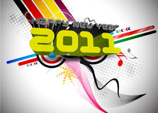 3d new year 2011. 3d abstract new year 2011 colorful design.  Vector illustration Stock Photography