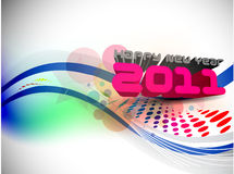3d new year 2011. 3d abstract new year 2011 colorful design.  Vector illustration Royalty Free Stock Images