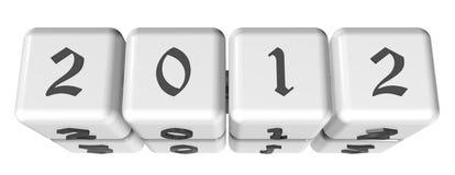 3D New Year 2012 Stock Photos