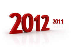 3d New Year 2012 stock photos