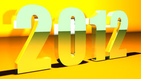 3D New Year 2012 background Stock Photos