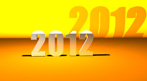 3D New year 2012 background Royalty Free Stock Photo