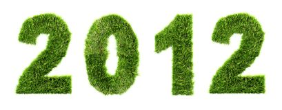 3d new year 2012 - ecology concept Royalty Free Stock Photos