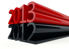3D new year 2013 Royalty Free Stock Photos