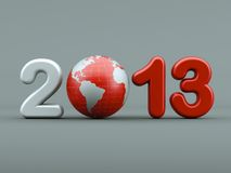 3d new year 2013 Stock Photos