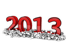 3d new year Royalty Free Stock Photo