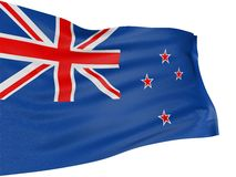 3D New Zealand flag Stock Image