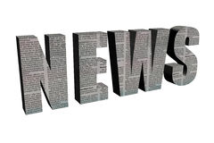3d news Royalty Free Stock Images