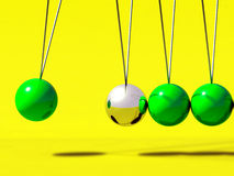 Free 3d Newtons Cradle Ball Royalty Free Stock Photography - 21938607