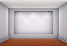 3d niche with spotlights for exhibit Stock Image