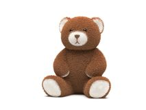 3d niedźwiedź odpłaca się miś pluszowy Zdjęcia Stock