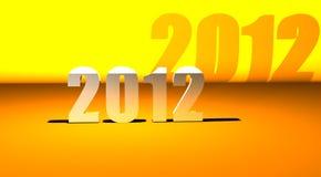 3D Nieuwe jaar 2012 achtergrond Royalty-vrije Stock Foto